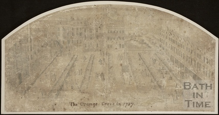Fan view of Orange Grove, Bath 1737