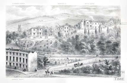 Houses on Beacon Hill, Camden Place, Bath c.1850