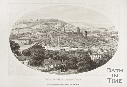Bath from Beechen Cliff 1858