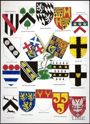 Arms of the Combatants of The Battle of Lansdown, Bath