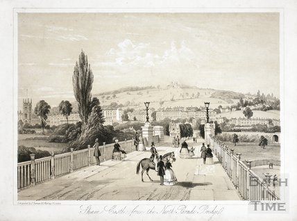 Sham Castle from the North Parade Bridge, Bath c.1850