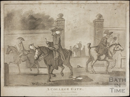 A College Gate. Divinees going upon Duty 1794