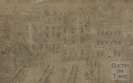 Fan view of Orange Grove, Bath c.1737 - detail