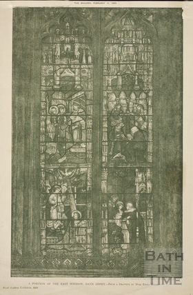 A portion of the east window, Bath Abbey, Bath 1893