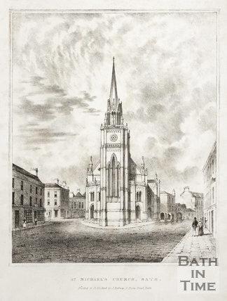 St. Michael's Church, Bath c.1835