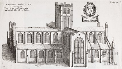 The South Prospect of the Cathedral Church, Bath. Bathoniensis Ecclesiae Cath: facies australis 1655