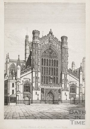 West view of Bath Abbey Church, Bath 1815