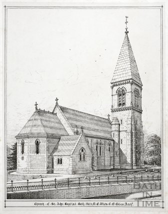 Church of St. John the Baptist, Bath 1861