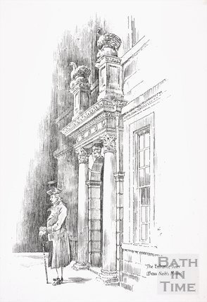 The Entrance Door, Beau Nash's House, Sawclose, Bath 1871