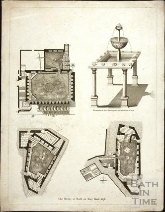 The Baths as they stood, Bath 1676