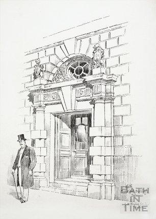 Municipal Buildings Entrance, Bath 1896