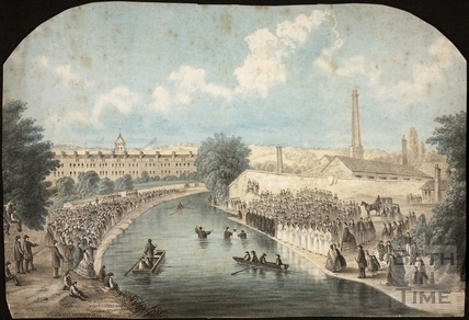 The Bath Baptising in the River Avon, Bath 1862