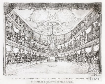 A View of the Theatre Royal, Bath as it Appeared at the Royal Dramatic Fete, in Honour of His Majesty's Birthday 1824