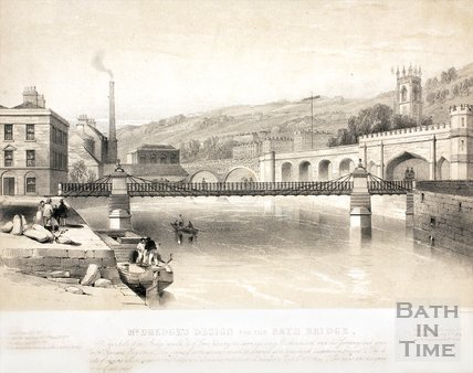 Mr. Dredge's design for the Bath Bridge, Bath c.1850