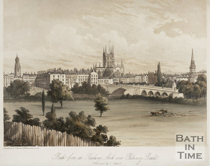 Bath from the Railway Arch over Pulteney Road c.1850