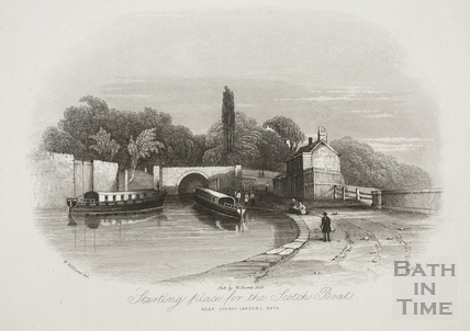 Starting place for the Scotch Boat. Near Sydney Gardens, Bath 1844