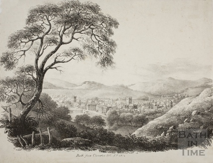 Bath from Claverton Hill 1821