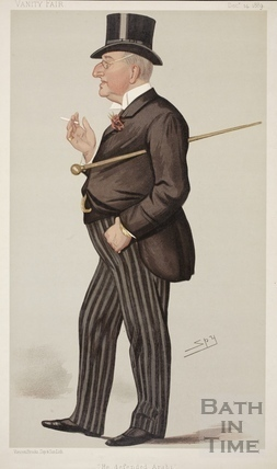 He defended Arabi. Caricature of Mr. Alexander Meyrick Broadley 1889