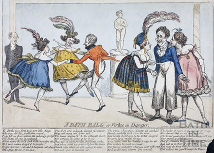 A Bath Ball or Virtue in Danger 1820