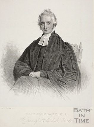 Revd. John East, MA Rector of St. Michael's, Bath