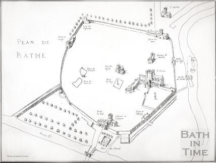 Plan de Bathe (Plan of Bath) c.1650