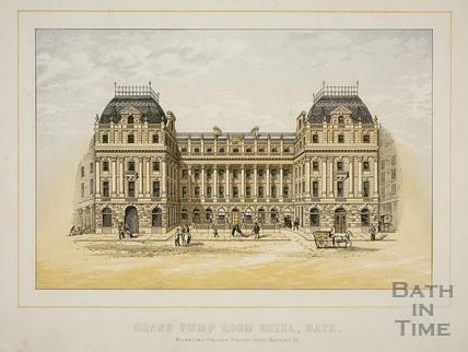 Grand Pump Room Hotel, Bath c.1869