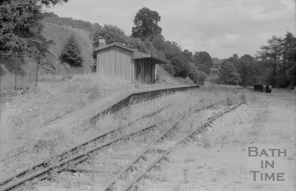 Monkton Combe Station after its closure 1956