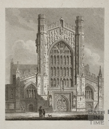 West End of Bath Abbey, Bath 1814