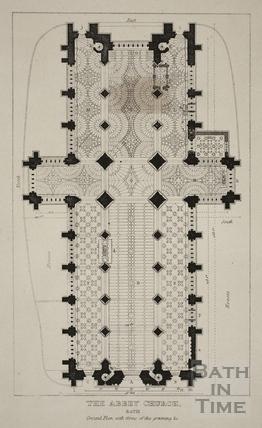 Plan of The Abbey Church, Bath