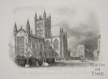 The Abbey Church, Cheap St. etc. from the Orange Grove, Bath c.1850