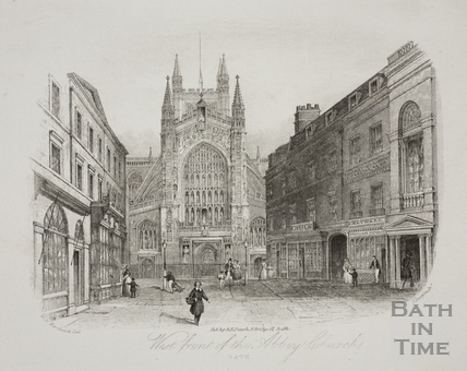West Front, Abbey Church, Bath 1844