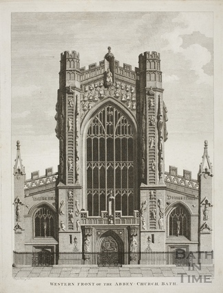 Western Front of the Abbey Church, Bath 1801