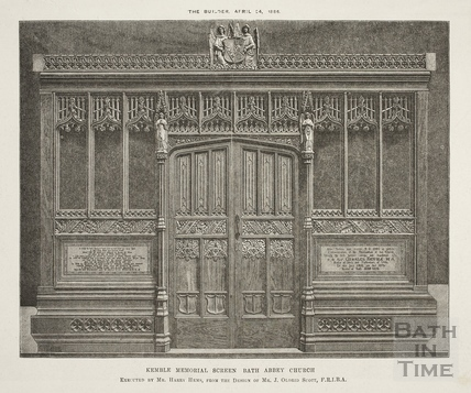 Kemble memorial Screen Bath Abbey Church, Bath 1886