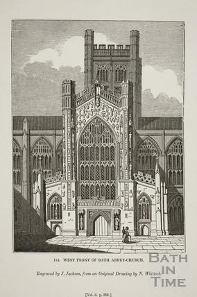West Front of Bath Abbey Church, Bath 1835