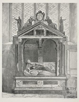 Lady Waller's Monument, Bath Abbey, Bath
