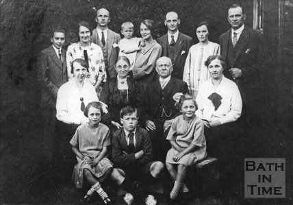 A group portrait of the Noad family, Odd down c.1930S