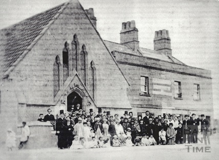 The church on the corner of Bloomfield Road and Frome Road, Odd Down, Bath c.1890