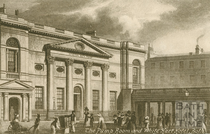 The Pump Room and White Hart Hotel, Bath c.1800