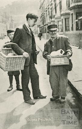 Guinea Pig Jack, Pierrepont Street, Bath c.1890