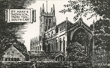 St Mary Bathwick, viewed from the south east 1968