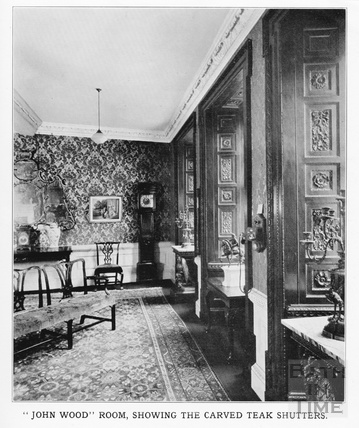 The John Wood Room, at 15 Queen Square, Bath c.1920
