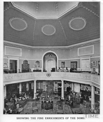 Interior view of the Octagon Church, Milsom Street, home of Mallett & son c.1920