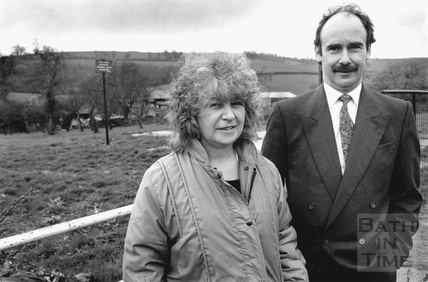 Messrs Wilkins and Reynolds at the site of the proposed Broadmoor Lane development in Weston 19 March 1991