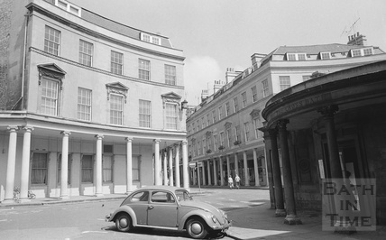 View of the Cross Bath, Hot Bath Street 1974