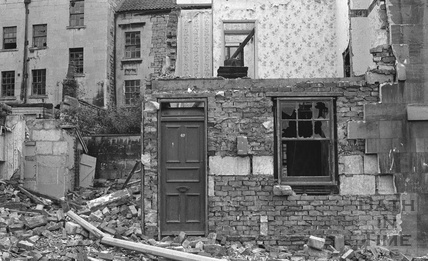 The remains of No 42, Morford Street or Lampards Buildings 1972