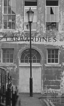 Carwardines, rear aspect in Trim Street, 1972