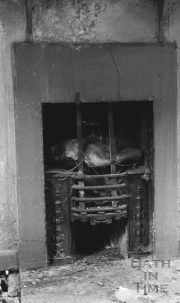 Fireplace inside an unidentified house in the Lampards Buildings / Morford Street area 1972