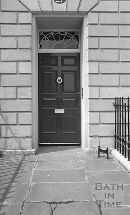 Doorway, 27 Great Pulteney Street c.1974