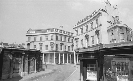 View of the Cross Bath and Hot Bath, Hot Bath Street 1974