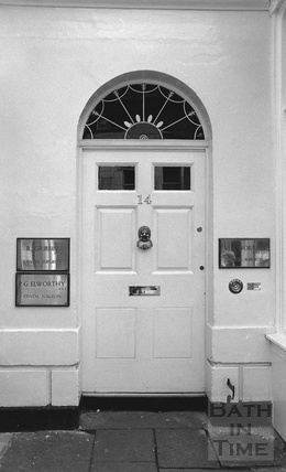 Bath doorway, 14 Argyle Street, Bath c.1974
